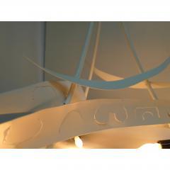 Paul Marra Design Brutalist White Chandelier by Paul Marra - 1313561
