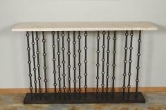 Paul Marra Design Iron Console with Stone Top by Paul Marra - 1261629