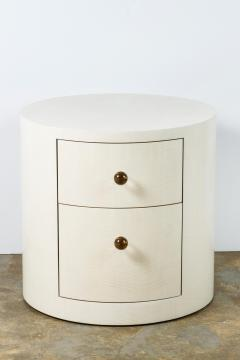 Paul Marra Design Italian Inspired 1970s Style Round Nightstand - 1464052