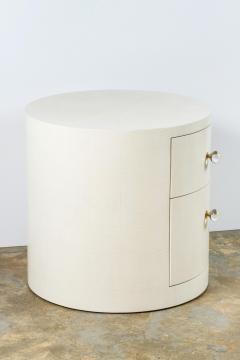 Paul Marra Design Italian Inspired 1970s Style Round Nightstand - 1464062