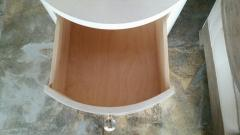 Paul Marra Design Italian Inspired 1970s Style Round Nightstand - 1464063