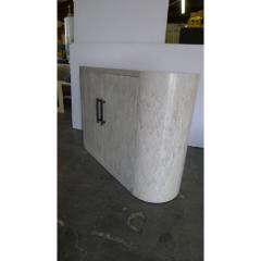 Paul Marra Design Italian Inspired Rounded Cabinet with Drip Glaze by Paul Marra - 1297160