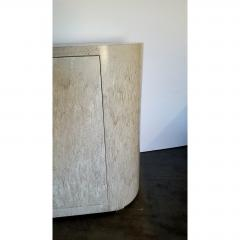 Paul Marra Design Italian Inspired Rounded Cabinet with Drip Glaze by Paul Marra - 1297164
