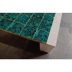Paul Marra Design Oak and Malachite Cocktail Table by Paul Marra - 1261321