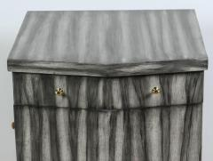 Paul Marra Design Pinnacle Nightstand in Zebra Finish - 1376286