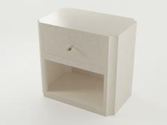 Paul Marra Design Scalloped Corner Nightstand - 1938131