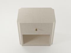 Paul Marra Design Scalloped Corner Nightstand - 1938133