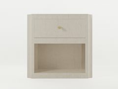 Paul Marra Design Scalloped Corner Nightstand - 1938134
