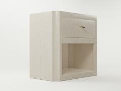 Paul Marra Design Scalloped Corner Nightstand - 1938136
