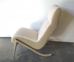 Paul Marra Design Slipper Chair Shown with Leather Faux Shearling by Paul Marra - 1296816