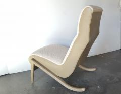 Paul Marra Design Slipper Chair Shown with Leather Faux Shearling by Paul Marra - 1296817