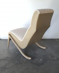 Paul Marra Design Slipper Chair Shown with Leather Faux Shearling by Paul Marra - 1296819