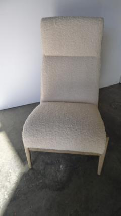Paul Marra Design Slipper Chair Shown with Leather Faux Shearling by Paul Marra - 1296827