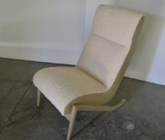 Paul Marra Design Slipper Chair Shown with Leather Faux Shearling by Paul Marra - 1296831