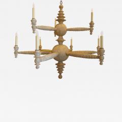 Paul Marra Design Spool Chandelier Two Tier by Paul Marra - 1288989