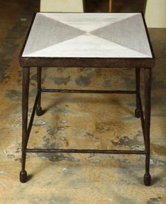Paul Marra Design Textured Iron and Wood Coffee Table - 1339248