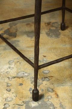 Paul Marra Design Textured Iron and Wood Coffee Table - 1339249