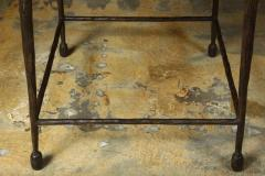 Paul Marra Design Textured Iron and Wood Coffee Table - 1339251