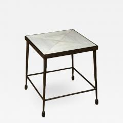 Paul Marra Design Textured Iron and Wood Coffee Table - 1368778