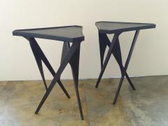 Paul Marra Design Triangular Steel Side Table - 1339278
