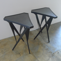Paul Marra Design Triangular Steel Side Table - 1339279