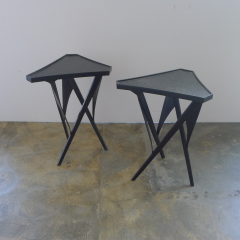 Paul Marra Design Triangular Steel Side Table - 1339280