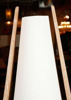 Paul Marra Design Wishbone Table Lamp in Natural Ceruse Oak - 1345386