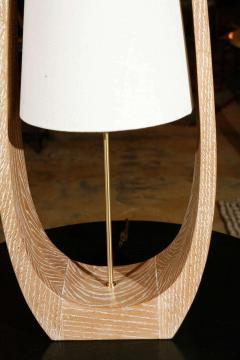 Paul Marra Design Wishbone Table Lamp in Natural Ceruse Oak - 1345387