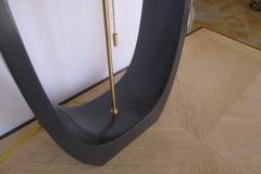 Paul Marra Design Wishbone Table Lamp in Satin Matt Gray Black Lacquer - 1354890