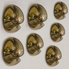 Peill Putzler Large Set of Koch Lowy Smoked Glass Wall Sconces or Lights by Peill Putzler - 1027350