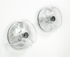Peill Putzler Pair of Extra Large Peill Putzler Wave Lights Sconces - 1924685