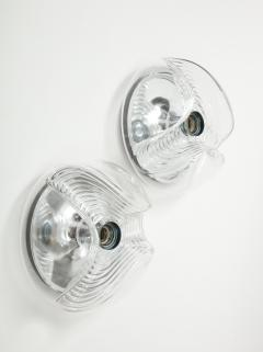 Peill Putzler Pair of Extra Large Peill Putzler Wave Lights Sconces - 1924686