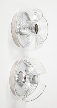 Peill Putzler Pair of Peill and Putzler Wave Sconce Flushmounts  - 1842627