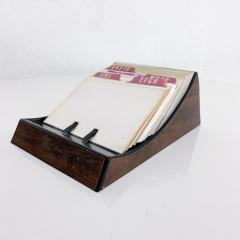 Peter Pepper Products Vintage Rolodex Petite File Tray Card in Faux Wood Midcentury Classic 1970s - 2025388