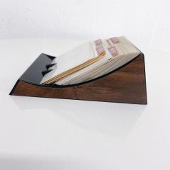 Peter Pepper Products Vintage Rolodex Petite File Tray Card in Faux Wood Midcentury Classic 1970s - 2025391
