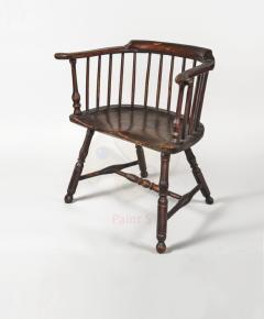Philip Bradley Antiques Philadelphia Windsor low back Armchair attrib to Thomas Gilpin c 1760 - 885765