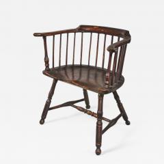 Philip Bradley Antiques Philadelphia Windsor low back Armchair attrib to Thomas Gilpin c 1760 - 886206