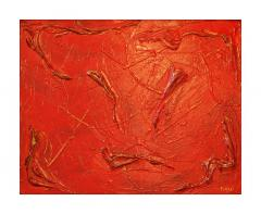 Philip Neri Philip Neri Framed Abstract Painting 1970 - 791925