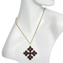 Phillips Brothers Victorian Gold Garnet and Diamond Maltese Cross Pendant Phillips London - 709128