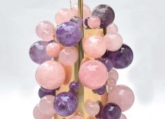 Phoenix Gallery Cherry Blossom Rock Crystal Bubble Lamps by Phoenix - 1899751
