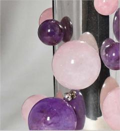 Phoenix Gallery Cherry Blossom Rock Crystal Bubble Sconces by Phoenix - 1899762