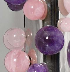 Phoenix Gallery Cherry Blossom Rock Crystal Bubble Sconces by Phoenix - 1899763