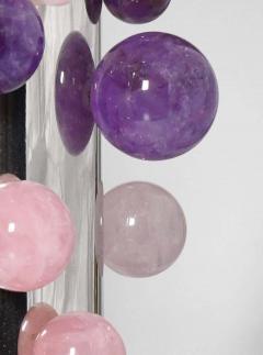 Phoenix Gallery Cherry Blossom Rock Crystal Bubble Sconces by Phoenix - 1899764