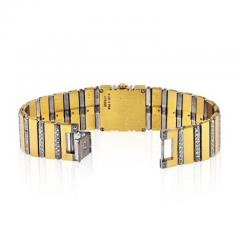 Piaget PIAGET POLO 18K YELLOW GOLD BLACK DIAL DIAMOND BRACELET LADIES WATCH - 1858335