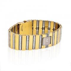 Piaget PIAGET POLO 18K YELLOW GOLD BLACK DIAL DIAMOND BRACELET LADIES WATCH - 1858336