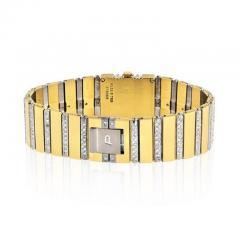 Piaget PIAGET POLO 18K YELLOW GOLD BLACK DIAL DIAMOND BRACELET LADIES WATCH - 1858337