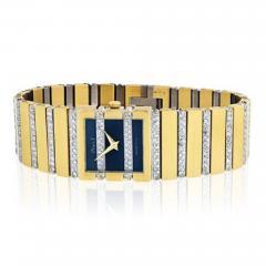 Piaget PIAGET POLO 18K YELLOW GOLD BLACK DIAL DIAMOND BRACELET LADIES WATCH - 1858806