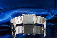 Piaget Piaget Lapis Large 1970s 18 Karat White Gold Diamond Bracelet Watch - 1142726