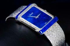 Piaget Piaget Lapis Large 1970s 18 Karat White Gold Diamond Bracelet Watch - 1142727