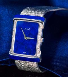 Piaget Piaget Lapis Large 1970s 18 Karat White Gold Diamond Bracelet Watch - 1142728